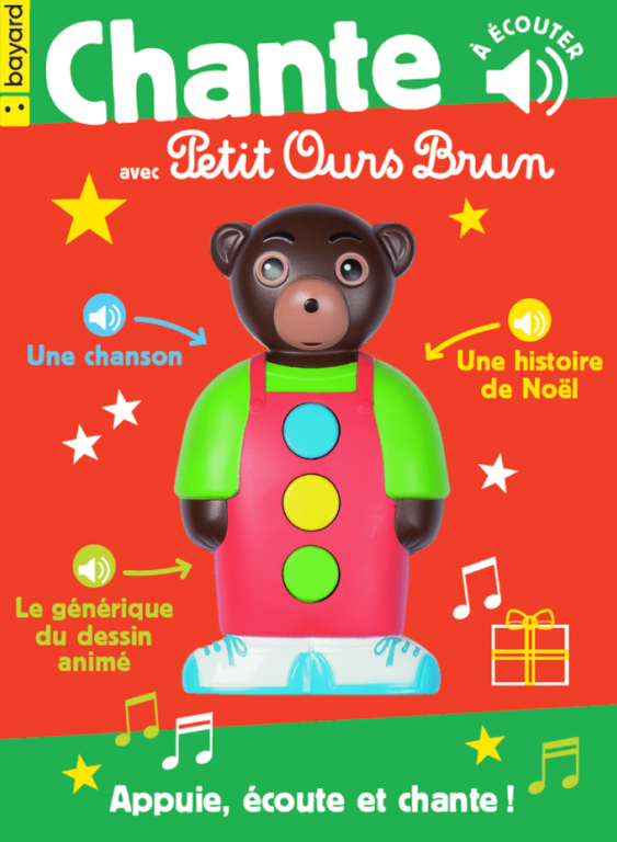Jouet sonore petit ours brun