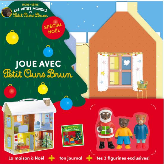La maison de Noël et ses trois figurines Petit Ours Brun.
