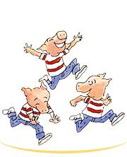 Les trois cochons petits