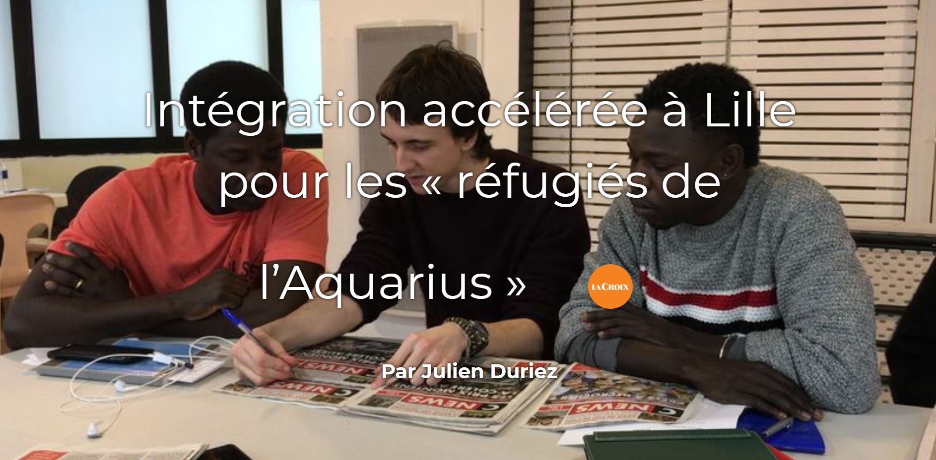 Intégration accélérée pour les réfugiés de l'Aquarius