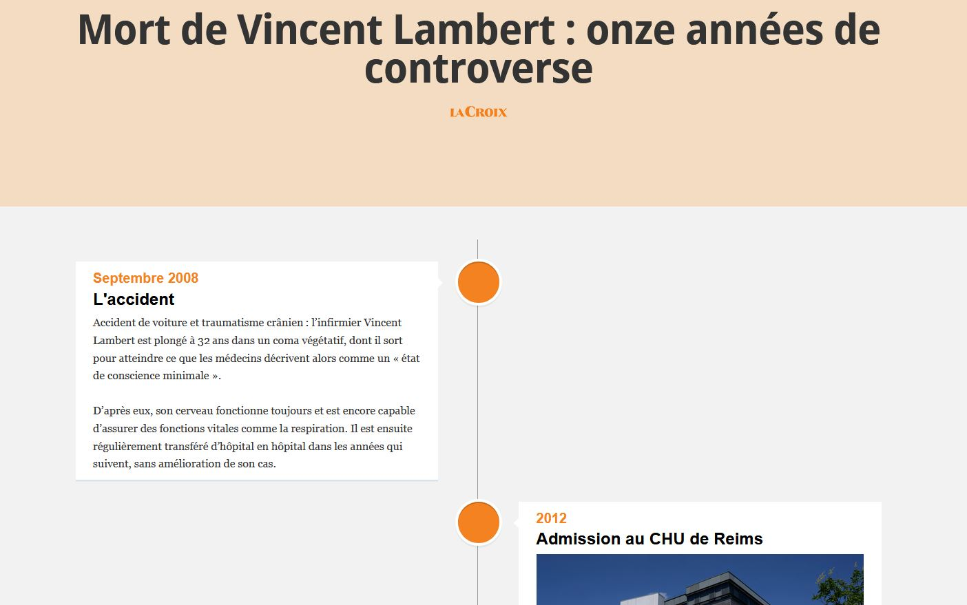 Chronologie sur l'affaire Vincent Lambert